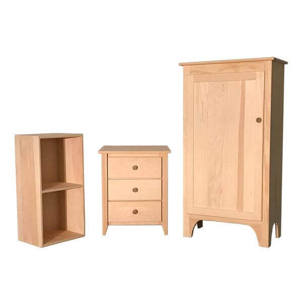 unfinished nightstands and cabinets