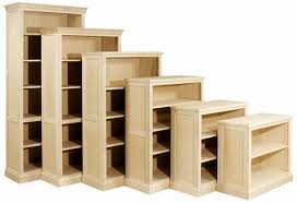 unfinished bookcases